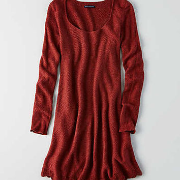 AEO Swing Sweater Dress , Rust