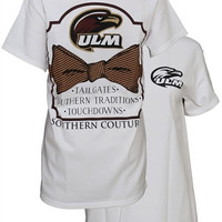 Southern Couture ULM Warhawks Classic Bow University of Louisiana Monroe State Girlie Bright T Shirt
