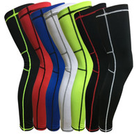 Sports Long Leg Guard Crashproof Antislip Basketball Leg Knee Sleeve Protector Leg Protection Gear Pad for Basketball Football