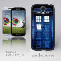Galaxy s4 Case Doctor Who, Police Box Doctor Who Galaxy s4 Rubber Case Blue iPhone 5 Back Cover --000011