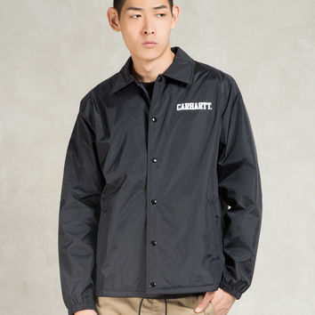 Carhartt WORK IN PROGRESS Black College Coach Jacket | HYPEBEAST Store.