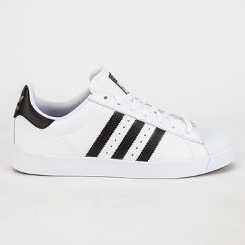 Adidas Superstar Vulc Adv Mens Shoes White/Black  In Sizes