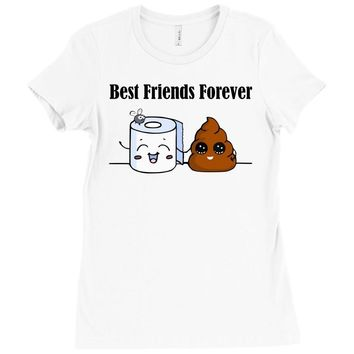 best friends forever Ladies Fitted T-Shirt