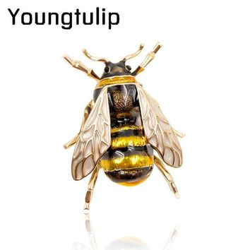Young tulip Enamel Bee - Brooches Jewelry