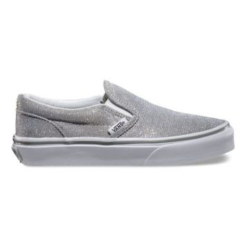 Vans Kids Shimmer Slip-On (silver)