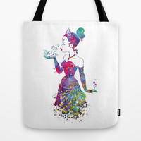 Princess Tiana The Princess and the Frog Watercolor Tote Bag by Bitter Moon