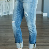 Judy Blue Pretty And Cuffed Jeans