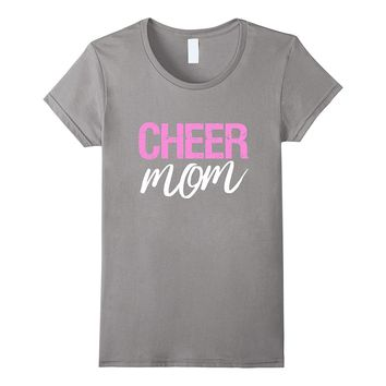 Pink Cheer Mom T-Shirt Sports Mother Tee