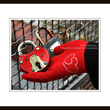 Love is the Key to every Heart 8x10 inch (20x25 cm) Love padlock Fine Art Photography - Home decor - Gift Idea - PhotoByMADA