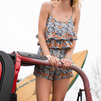 Panama City Printed Romper