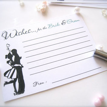 Wishes for the bride and groom cards, advice cards, best wishes wedding cards - 25 count