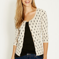 the classic cardi in ethnic print