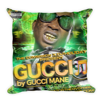 Gucci 3D (16x16) All Over Print/Dye Sublimation Gucci Mane Couch Throw Pillow Insert & Pillow Case/Cover