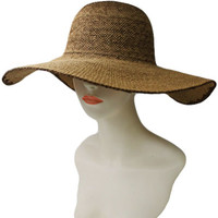 ORIGINAL STRAW FLOPPY SUN HAT.