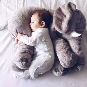 Kids Baby Long Nose Elephant Doll Soft Plush Stuff Toys Lumbar Cushion Pillow Christmas gift
