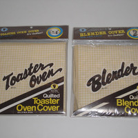 1983 Doris May - Quilted Toaster Oven & Blender Matching Covers - In Original Package