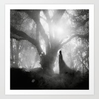 Black and White - Autumn Song Art Print by Viviana Gonzalez