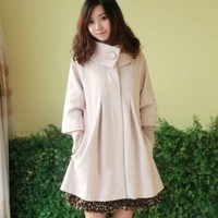 Wholesale Korean Style Wrapped Collar Coat Apricot