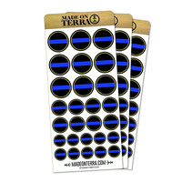 Thin Blue Line Removable Matte Sticker Set