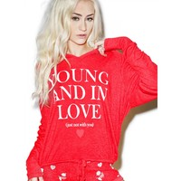 YOUNG AND IN LOVE HANG OUT HOODIE