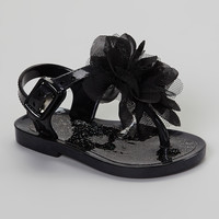 Black Flower Bahama Sandal | something special every day