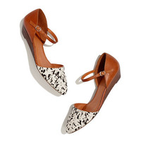 The Duet Mini Wedge in Speckled Calf Hair