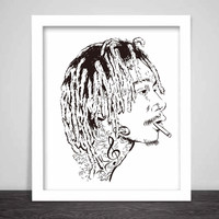 Wiz Khalifa mistercap Art Poster (6 sizes) // taylor gang