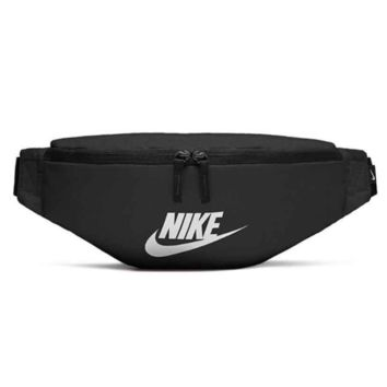 NIKE Fashion New Letter Hook Print Women Men Bust Bag Shoulder Bag Black