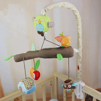 Music Box Infant Baby Bed Bell Baby Toys 0-12 Months Soft Mobile Crib Rotating Music Hanging Rattles Musical Educational Toys