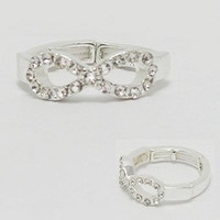 Silver Tone Infinty Ring