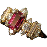 INCREDIBLE 1.31ct GIA Unheated Ruby & Diamond Ring