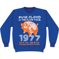 Pink Floyd Men's  In The Flesh NYC Sweatshirt Blue