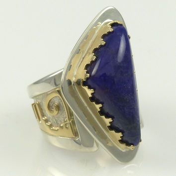 Gold and Silver Sugilite Ring