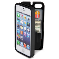The iPhone 5/5s Polycarbonate Wallet (Black)