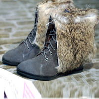 Newly Korean Fashion Frosting Bandage Flat Boots Gray : Wholesaleclothing4u.com
