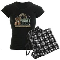 Army Wife supporting Women's Dark Pajamas> Army Wife supporting > militaryprideshop.com