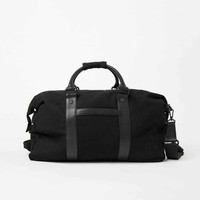 [Bags] Leather and Canvas Dufflebag in Black