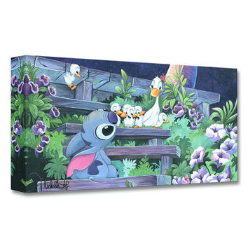 Lilo & Stitch Family Blossoms Limited Edition Wrapped Canvas