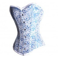 MY-042 - Blue & Silver Corset