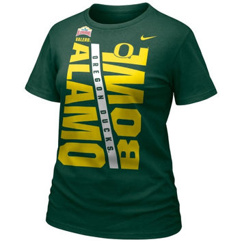Nike Oregon Ducks 2014 Alamo Bowl Bound Ladies T-Shirt - Green