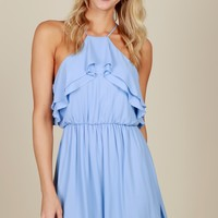 Always Together Ruffle Dress Forever Blue