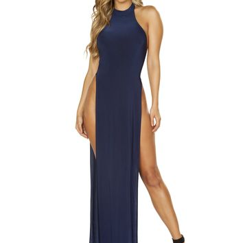 Maxi Length Halter Neck Dress