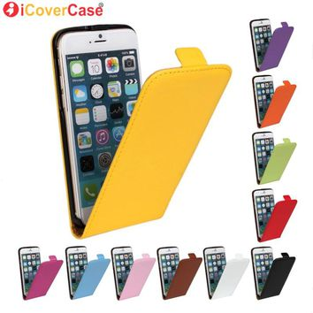 Bussiness case Coque for iPhone 4 4s 5 5s SE 5C 6 6s 7 Plus Leather Case Genuine Magnetic Flip Cover Mobile Phone Book