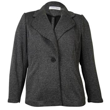 Calvin Klein Women's Knit Sweater Blazer Jacket