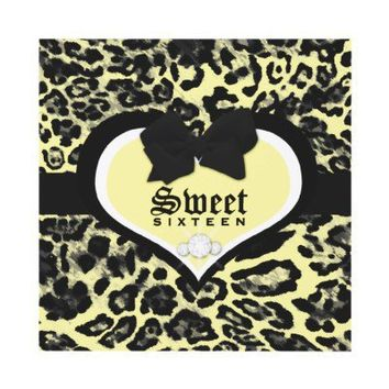 311 Wild at Heart Sweet Sixteen | Quinceanera Custom Invitations from Zazzle.com
