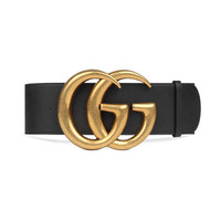 Gucci Wide leather belt with Double G