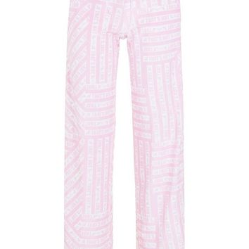 Paris Hilton Printed Velour Trousers | Boohoo