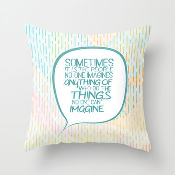 Imitation game.. sometimes the people, alan turing quote Throw Pillow by Studiomarshallarts