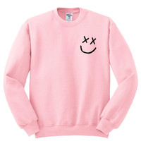 "Louis Tomlinson ""Smiley Face Logo In Corner"" Crewneck Sweatshirt"