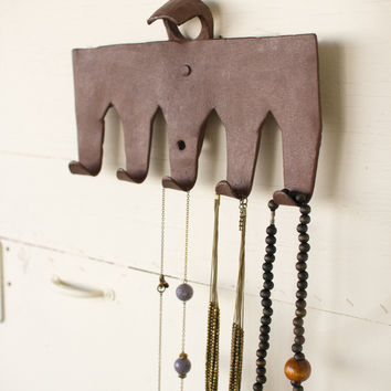 Antique Metal Garden Rake Coat Rack